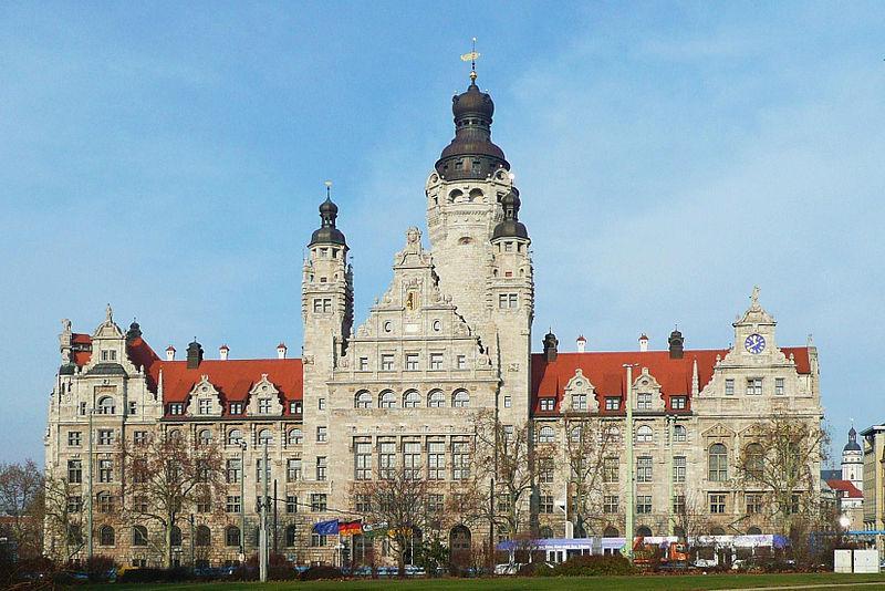 Das neue Rathaus in Leipzig Mitte