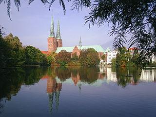 Lübecker Dom und Mühlenteich