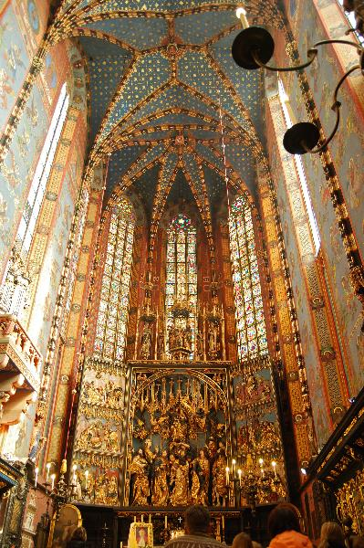 Marienkirche in Krakau mit dem Hochaltar von Veit Stoß