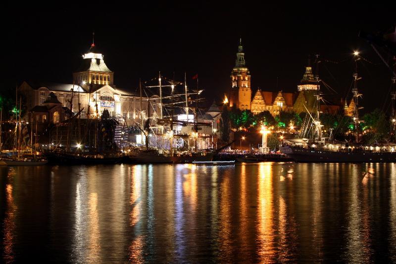 Stettin bei Nacht