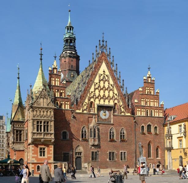 Gotisches Rathaus in Breslau