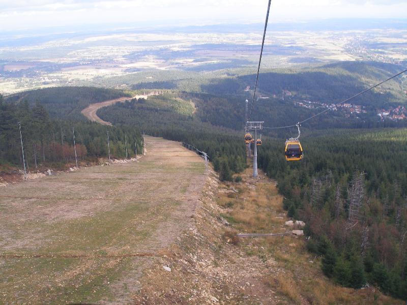 Bad Flinsberg - Skipiste und Gondelbahn