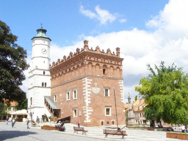 Das Rathaus von Sandomierz