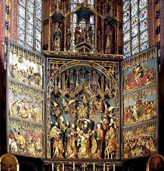 Hochaltar von Veit Stoß in der Marienkirche Krakau