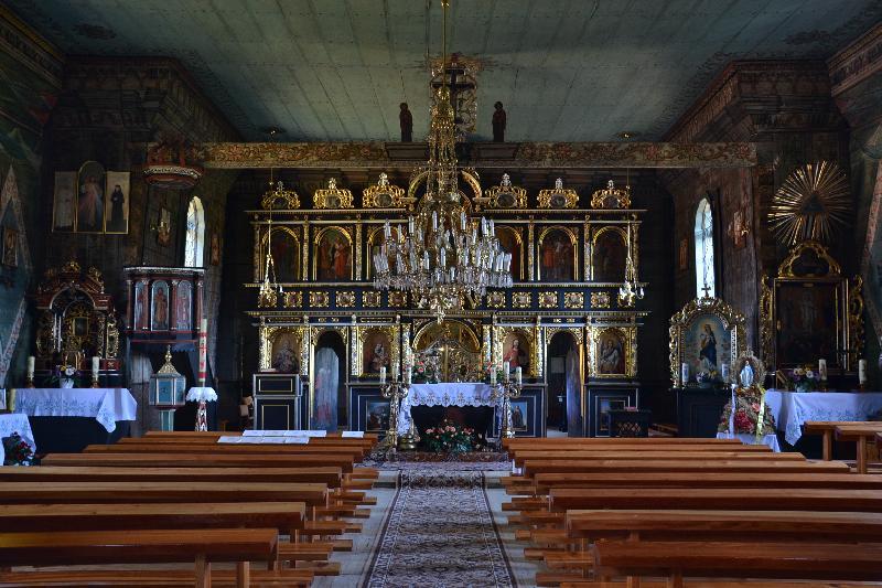 Holzkirche Brunary - Innenraum