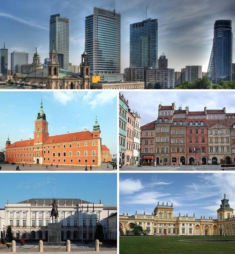 Warszawa - kolaż