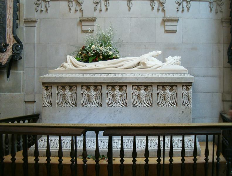 Das Grab der polnischen Königin Hedwig von Anjou in Wawel