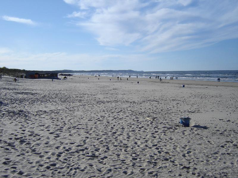 Strand in Swinemünde - der breiteste Strand Polens