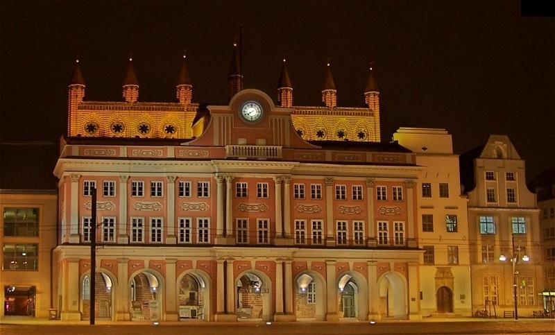 Das Rathaus in Rostock