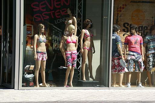 Schaufenster im Einkaufszentrum Schwarzwald