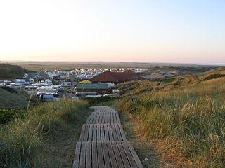 Campingplatz nahe Westerland auf Sylt.