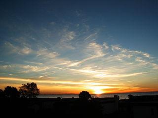 Sonnenaufgang am Südstrand von Großenbrode