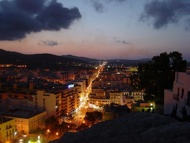Luftbild von Ibiza