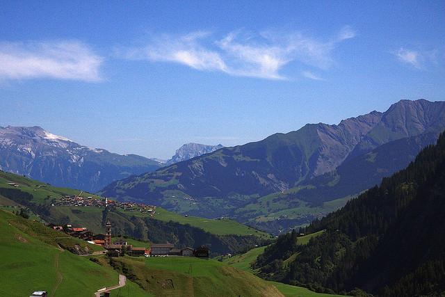 Schöne Aussicht in Graubünden