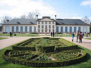 Der Garten der Orangerie in Straßburg