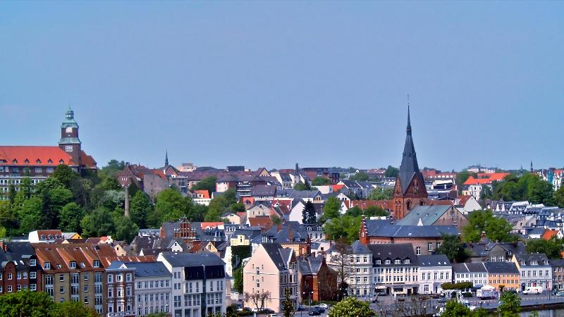 Aussicht auf die Flensburger Altstadt