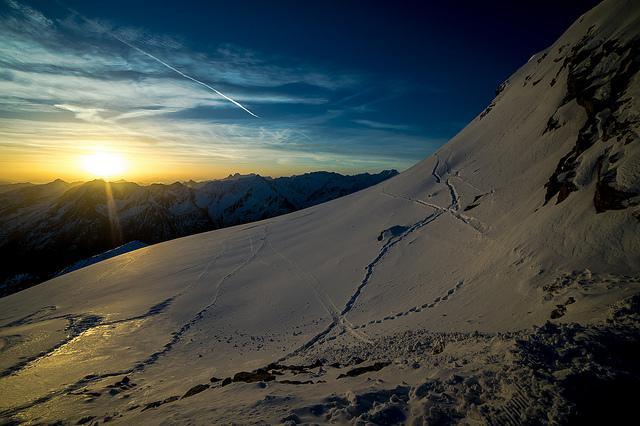 Sonnenuntergang in Sölden