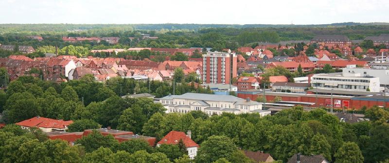 Aussicht vom Wasserturm auf Lüneburgs Umgebung