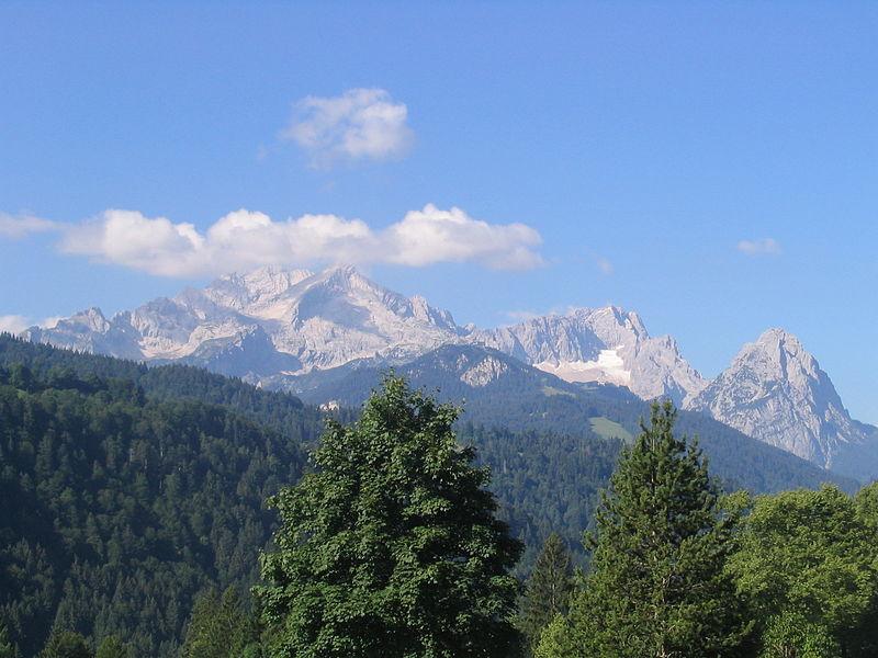 Die bekannte Zugspitze