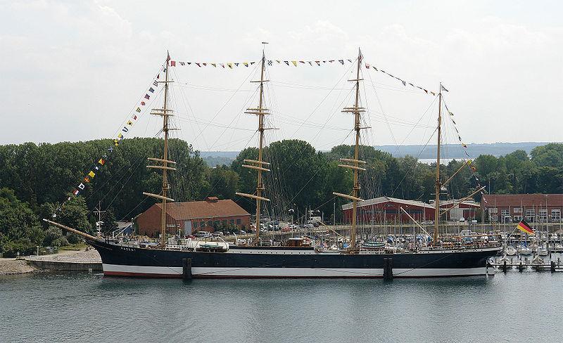 Die Viermastbark Passat ist ein historisches Handels- und Frachtschiff