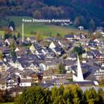 Blick vom Ettelsberg zum Hohen Eimberg mit Fewo Ettelsberg-Panorama