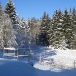 Balkonblick im Winter