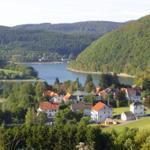 Blick auf Heringhausen und den Diemelsee