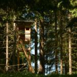 versteckter Hochsitz in den Bergen