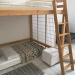 Schlafzimmer Etagendoppelbett mit Einzelschlafplatz darunter