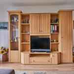 Wohnzimmer mit Südbalkon, Sat-Flach-Fernseher