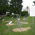 auf dem Gelände neben Tischtennisplatten  Senioren Fitnessgeräte ab 2013