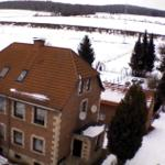 Blick von oben . Da lag tatsächlich Schnee zu Ostern!