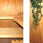 Sauna (befindet sich im hinteren Teil des Hauses)