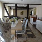 2. Etage Sitzecke, offene Stube mit angrenzender Küche