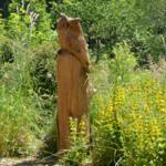 Unser Uhu aus Holz, sie können ihn aber auch, wie andere seltene Tiere  in freier Natur beobachten