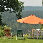 Kaffeetisch und Liegen - Villa Luise im Garten