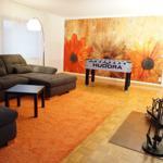 Wohnzimmer mit Kicker