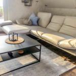 Leder Couch mit Funktionen