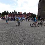 Biker kurz vor der Abfahrt vom Bocksberg