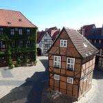 Blick auf den historischen Finkenherd. Das Foto wurde aus der Ferienwohnung aufgenommen.