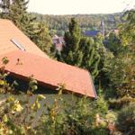 Blick, über das Ferienhaus