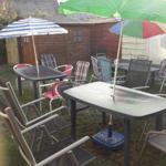 Grill- & Sitzmöglichkeit im Garten