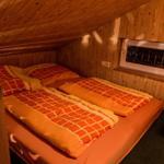 Das Hochbett mit 2 Schlafplätzen