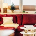 Hochwertige Wildleder Couch zum relaxen