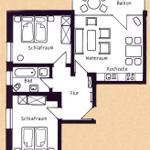 Grundriss der Wohnung Fingerhut