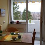 an die Küche angrenzender Balkon