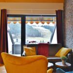 Fewo Blume - Wohnzimmer mit Aussicht