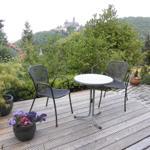 Terrasse mit Schlossblick