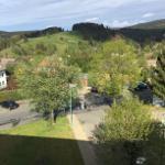 Blick in die Berge vom Wohnzimmer