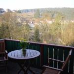 Blick in den Harz und über Altenau vom Balkon
